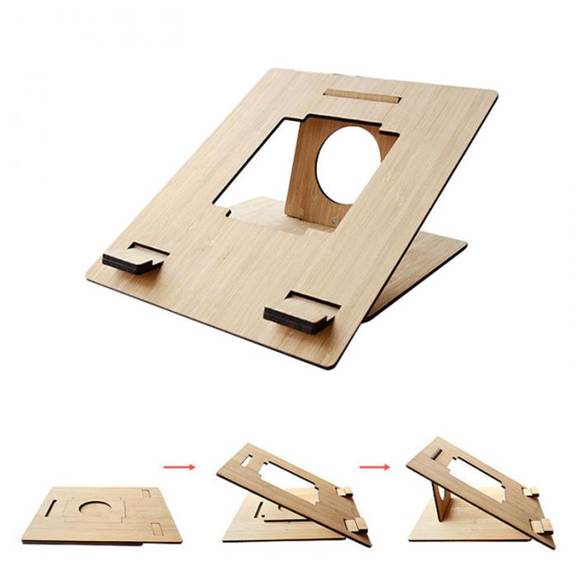 Portable Laptop Bamboo Wood Table